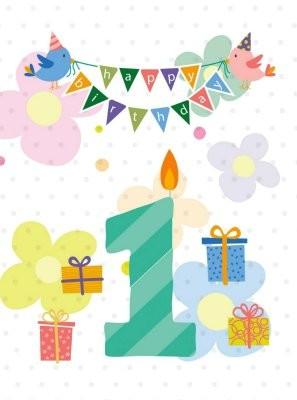 Dobra knjiga   Čestitka   Srećan 1. rođendan (019)   Čestitke